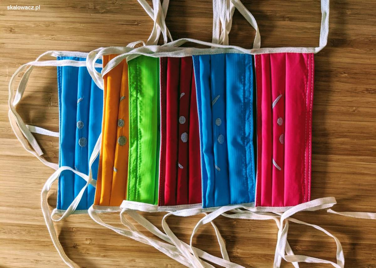 Kolorowe maseczki z ripstop Nylon